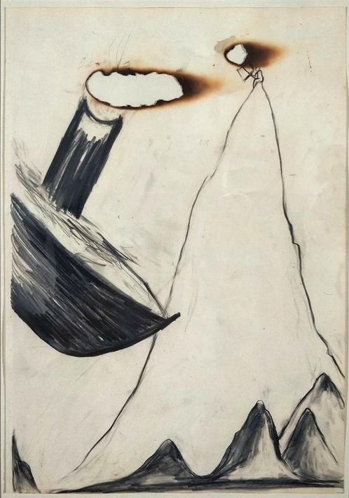 Cucchi, Gomito d'aria, 1995, 49x34