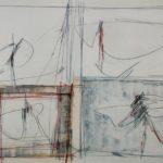 Perilli, Senza titolo, 1961, 50x65