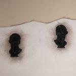 Busto di Agrippa, 2014, cenere e carbone su tela, 100x150