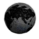Terra Mater, 2014, lana d'acciaio e carbone, ø 70