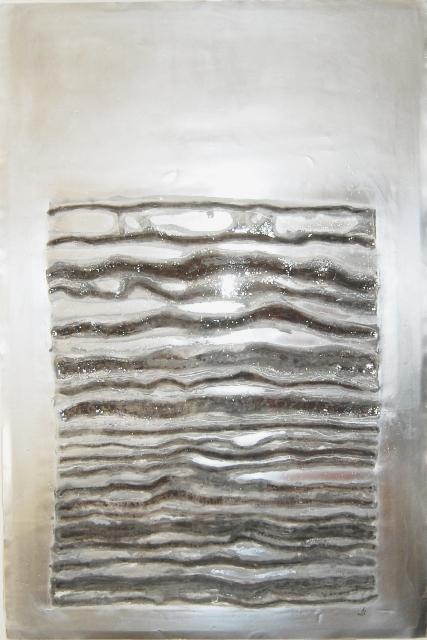 Madonna, 2016, tecnica mista su lastra di zinco, cm 150x100