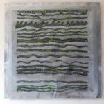 Mary Stuart, 2018, tecnica mista su lastra di zinco, cm 100x100