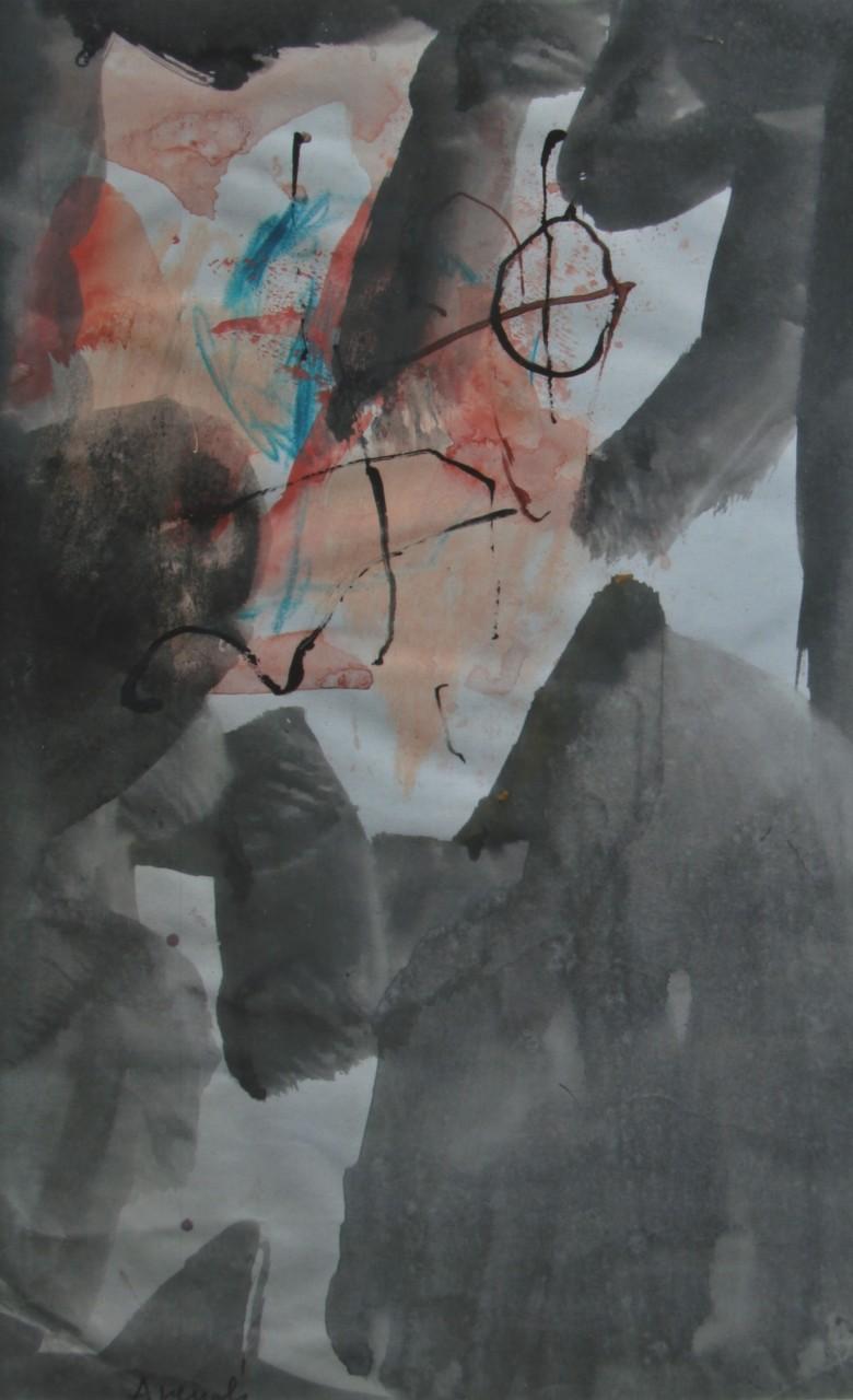 Marcello Avenali, Senza titolo, 1965, tempera su carta, cm 30x20