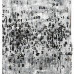 Famiglie numerose 1 acrilici e smalti spray su carta cm. 118x77 ok