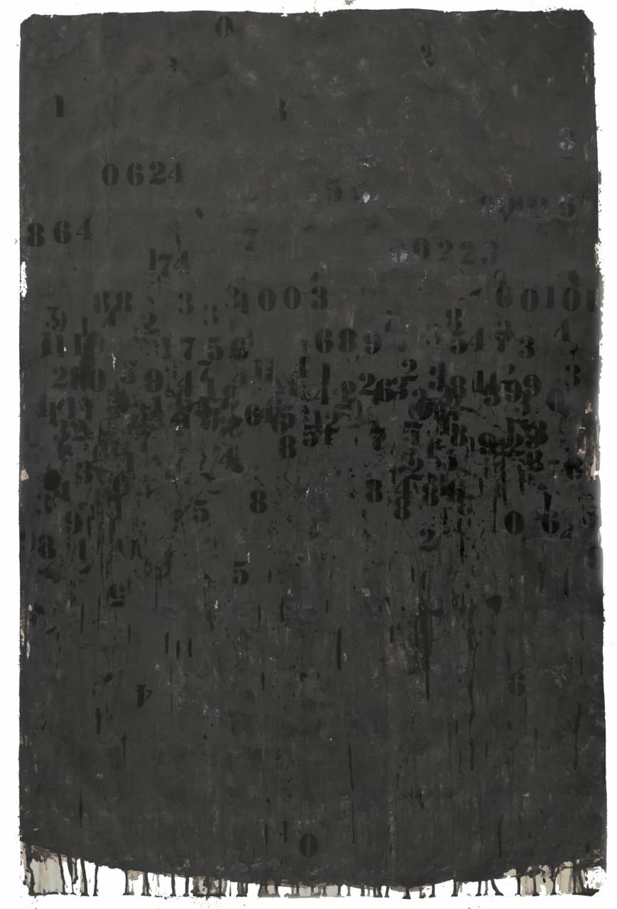 Famiglie numerose 2 acrilici e smalti spray su carta cm. 118x77 ok