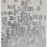 Famiglie numerose acrilici e smalti spray su carta, cm. 50x35.