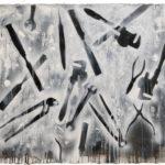 Ricordi di ferro 2 acrilici e smalti spray su carta cm. 57x76 ok