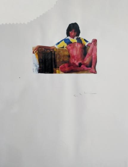 Senza Titolo, tecnica mista su carta, 1979, 100x70