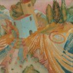 """""""Paesaggio Fantastico"""" (1995), olio su tela, cm. 60x100"""