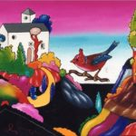 """""""Paesaggio Fantastico"""" 2001, olio su tela, cm. 40x50"""