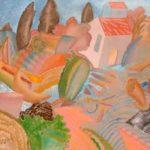 """""""Paesaggio"""" 1982, olio su tela, cm. 50x100"""
