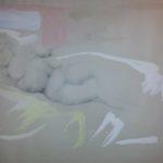 """""""Nudo femminile"""" 1972, tecnica mista su carta, cm. 50x70"""