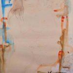 """""""Figura di donna"""" 1965, tempera su carta, cm. 50x70"""