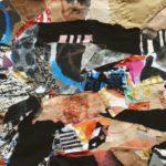 """""""Senza titolo"""" (1970), collage su stoffe, cm. 40x55"""
