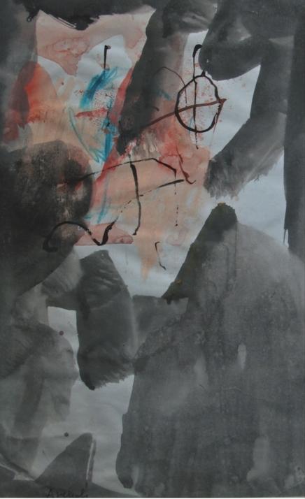 """""""Senza titolo"""" (1965), tempera su carta, cm. 30x20"""