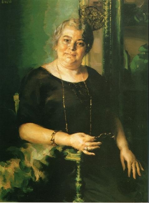 """""""Signora '900"""" 1922, olio su tela, cm. 100x76"""