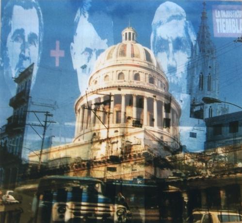 """My own rave Havana (Capitolio)"" 2006, foto su plexiglass, cm. 100x100"