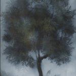 """Albero"" 1960, tecnica mista su cartoncino, cm. 68x48"