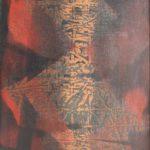 """""""Lo gnorri"""" 1955, tempera e olio su carta intelata, cm. 50x36"""