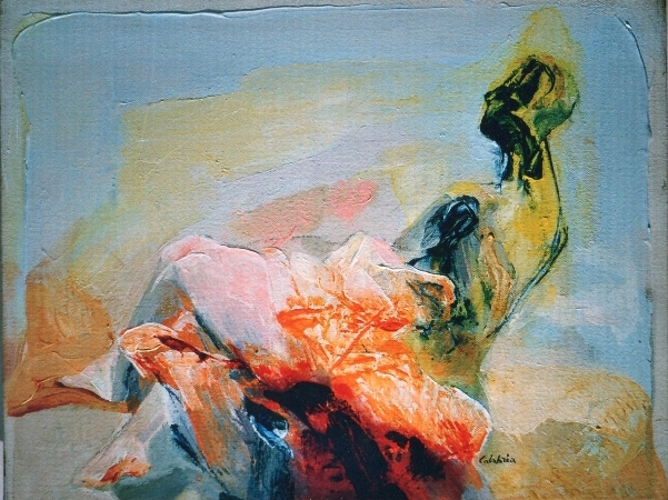 """Studio per verso sera"" 2004, olio su tela, cm. 35x45"