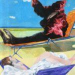 """""""Studio per una spiaggia"""" 1979, olio su tela, 62x58"""