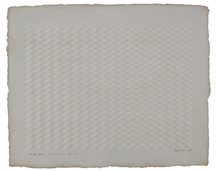 """Senza titolo"" 1984, carta estroflessa, cm. 44x54"