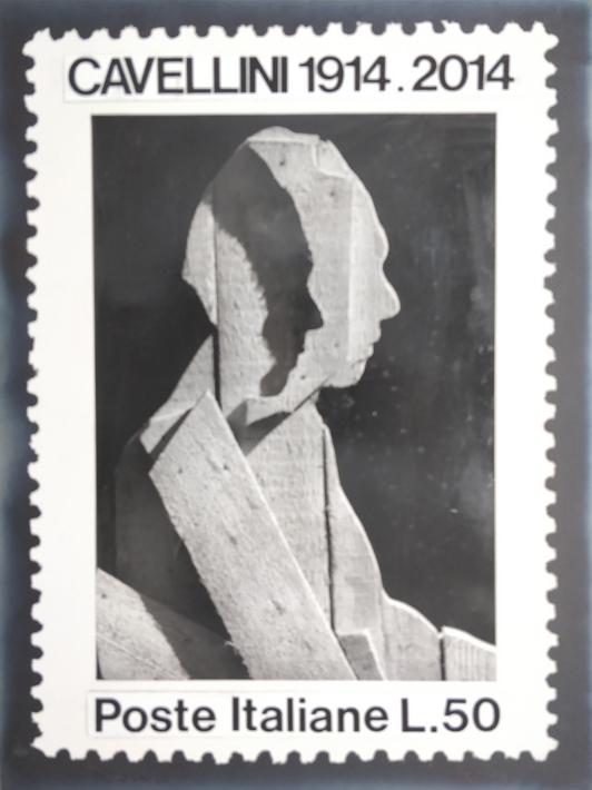 """""""Francobollo con Ceroli"""" 1973, foto e collage, cm. 40x30"""