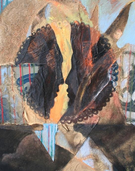 """Sinceri lineamenti"" 2002, olio su tavola, cm. 60,5x47,5"