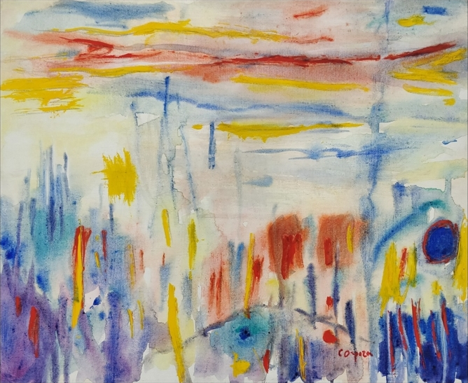 """La luce irreale"" 1990, olio su tela, cm. 65x81"