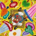 """""""Chef Picasso"""" 2017, tecnica mista su tela, cm. 70x50"""