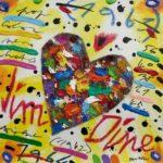"""Jim Dine"" (2005), acrilico su tela, cm. 25x25"