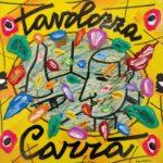 """""""Tavolozza Carrà"""" (2005), acrilico su tela, cm. 25x25"""