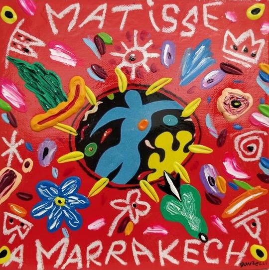 """Matisse e Marrakech"" (2005), acrilico su tela, cm. 25x25"