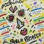 """""""Occhiali di Picasso"""" (2005), acrilico su tela, cm. 30x35"""