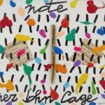 """""""Note per John Cage"""" (2005), acrilico su tela, cm. 30x35"""