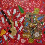 """Paris Texas"" 2017, tecnica mista su tela, cm. 100x100"