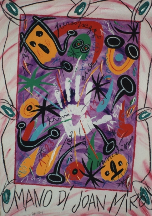 """Mano di Joan Mirò"" (2005), olio su tela, cm. 70x50"