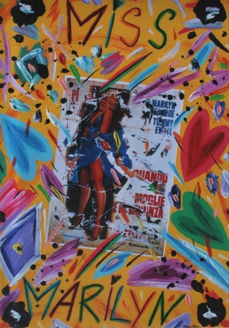 """Miss Marylin"" (2005), olio su tela, cm. 70x50"