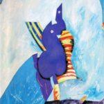 """""""Acquario"""" (1990), tempera su cartone, cm. 70x50"""