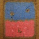 """Senza titolo"" 2003, terra colorata su tela juta detessuta, cm. 80x70"