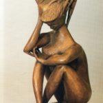 """""""Sibilla"""" 1987, scultura in bronzo, cm. 39x25x12"""