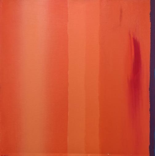 """""""Dissonanza in arancio"""" 2001, olio su tela, cm. 50x50"""