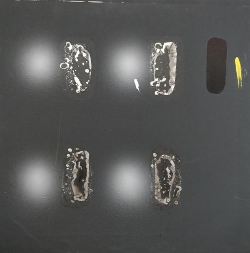 """""""Ideoluce"""" 2001, olio su tela, cm. 50x50"""