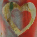 """""""Cuore"""" 2000, tecnica mista su carta, cm. 24x18"""