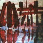 """Porto Marghera"" 2008, olio su carta, cm. 70x90"