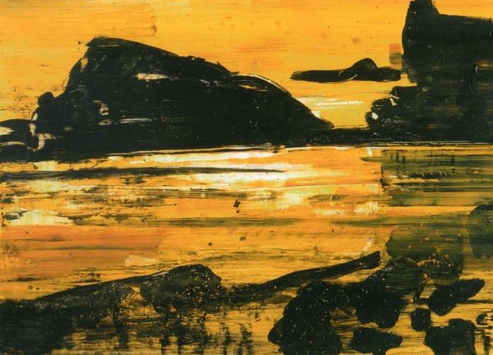 """""""Ponza"""" 2005, olio su carta, cm. 100x140"""