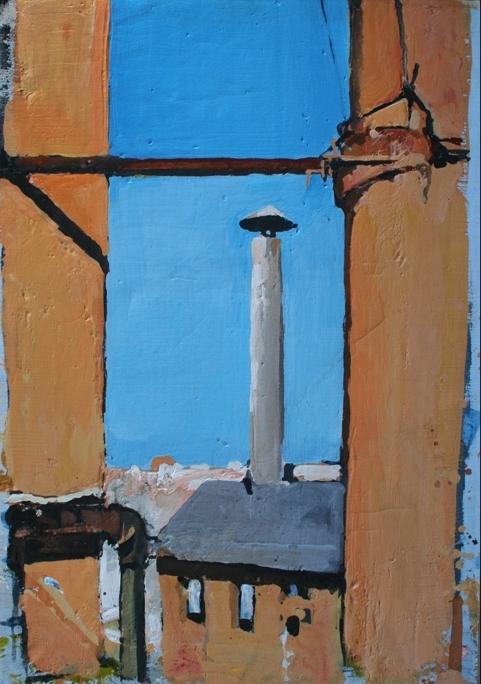 """""""Comignoli"""" 1996, olio su tela, cm. 79x55"""
