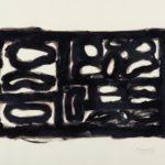 """Senza titolo"" (1980), catrame su cartoncino, cm. 50x68"