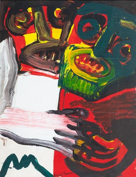 """""""Senza titolo"""" (1990), tecnica mista su cartoncino, cm. 95x75"""