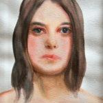 """""""Volto"""" 2005, acquerello su carta, cm 51x36"""